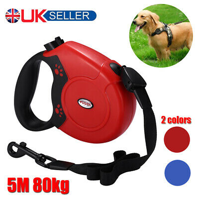 Extra Long Extendable Retractable 8M Pet Dog Training Lead Leash Hold Max 50KG