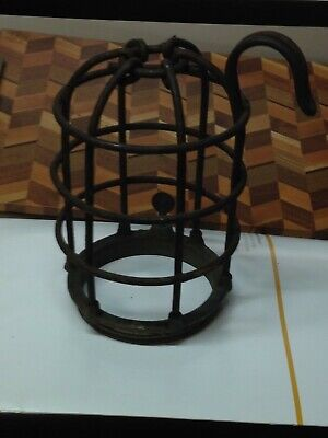 Antique Vintage Heavy Cast Iron Nautical Ship Trouble Work Industrial Light