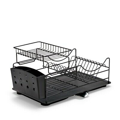 NEW Salt & Pepper SUBLIME Iron Stackable Rustproof Dish Rack Black - Kitchenware