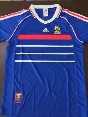1998 France Football Soccer Shirt Retro Home World Cup Vintage Classic Jersey