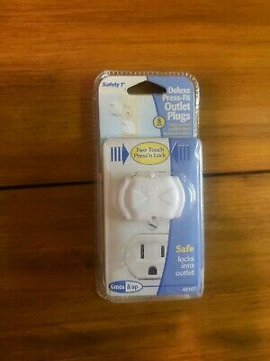Safety 1st Deluxe Press Fit Outlet Plug Protectors (Pack of 8)
