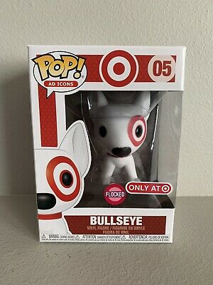 2019 FUNKO POP! Ad Icons 05 FLOCKED BULLSEYE Target Exclusive Red Collar IN HAND