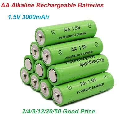 New Brand AA Alkaline Rechargeable Batteries 3000mAh 1.5V AA Battery lot 4-50PCS