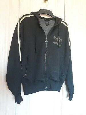 A Girls Black And Gold Adidas Tracky Top Size 13-15