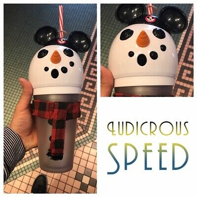 Disney Parks Christmas Holiday Snowman Mickey Light up Sipper Cup NEW 2019