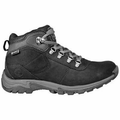 Timberland Women's Mt. Maddsen Mid Waterproof Outdoor Hiking Boots Black TB0A25N