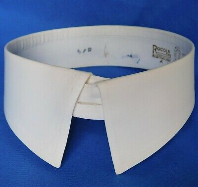 Detachable starched shirt collar size 15.5 vintage Rocola Lincoln separate stiff