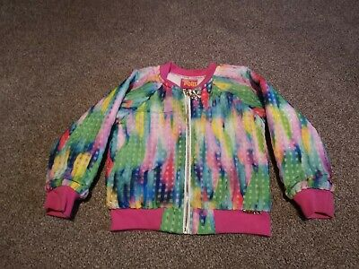 Girls Age 4 Trolls Bomber Jacket Fleece Lined Excellent Condition