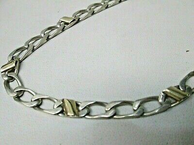 Tiffany & Co. Sterling Silver & 18K Gold Curb Link Necklace Chain