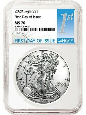 2020 1oz Silver Eagle NGC MS70 - First Day Issue  Label