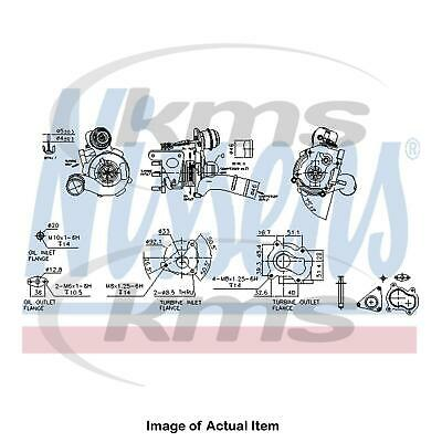 New Genuine NISSENS Turbo Charger 93163 Top Quality