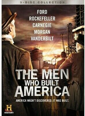 The Men Who Built America (DVD, 2013, 3-Disc Set) History Channel NEW