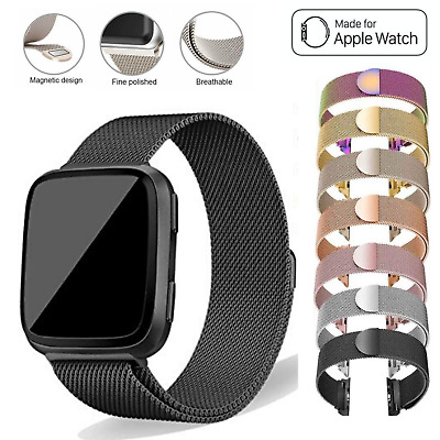 Apple Watch Series 5 4,3,2,1 Milanese Magnetic Stainless Steel Strap iWatch Band