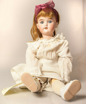 Antique Armand Marseille 390 German bisque head and ball jointed doll c1900