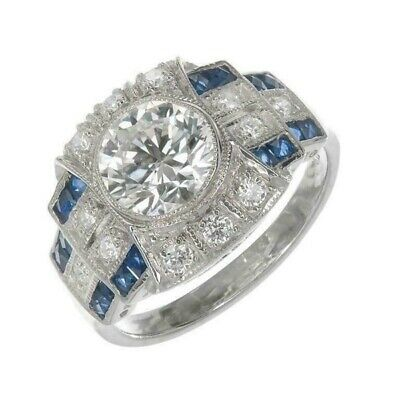 2.60CT Round White Diamond Antique Vintage Engagement Ring 925 Sterling Silver