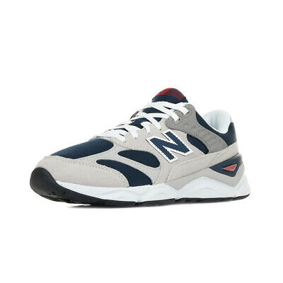 Chaussures Baskets New Balance homme X-90 GED taille Gris Grise Cuir Lacets