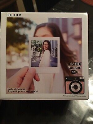 Fujifilm 108076174 Instax Square SQ6 Instant Film Camera - Blush Gold With Film