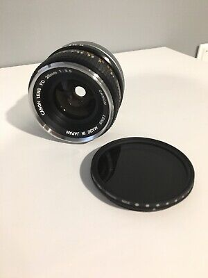 Canon Fd 28Mm F/3.5 Chrome Nose Lens With K&F Concept Slim Fader Nd