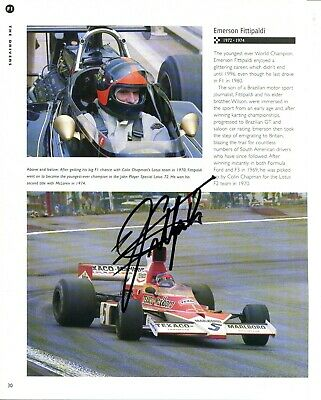 Emerson Fittipaldi SIGNED AUTOGRAPH Formula One AFTAL UACC RD