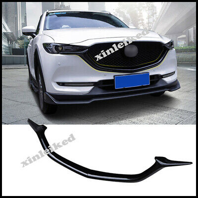 Glossy Black For Mazda CX-5 2017-2020 FRONT Bumper Grills Moulding Cover Trim