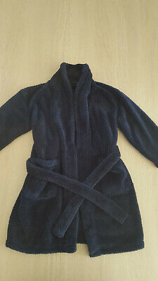 NEXT Boys Age 8 Years Dressing Gown Navy Blue Robe In VGC