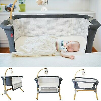 Cosy Cuddler Bedside Crib Baby Co-Sleeping Coo Sleeper Crib Luxury Solid Wood