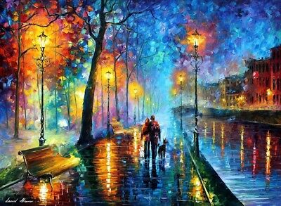 Leonid Afremov- Melody of The Night Poster by Leonid Afremov