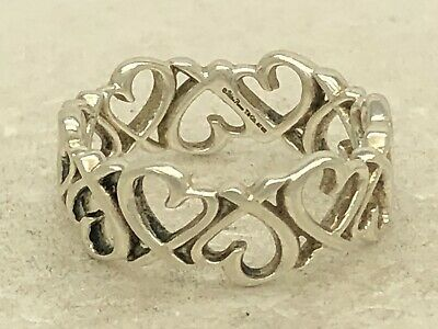 Tiffany & Co Sterling Silver Paloma Picasso Loving Heart Swirl Ring Sz 7 3.6g