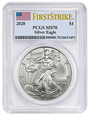 2020 1oz Silver Eagle PCGS MS70 - First Strike Label