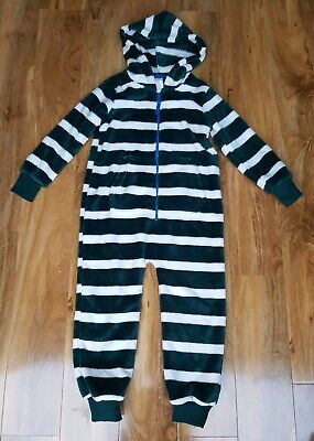 MINI BODEN BOYS/GIRLS Cosy Fleece All-in-one GREEN STRIPE B0530 BRAND NEW