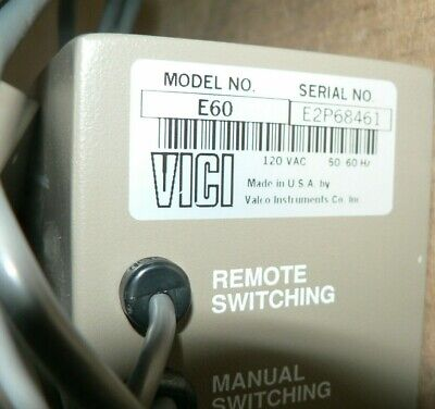 New Vici Valco Instruments 2 Position Electric Actuator Model E60