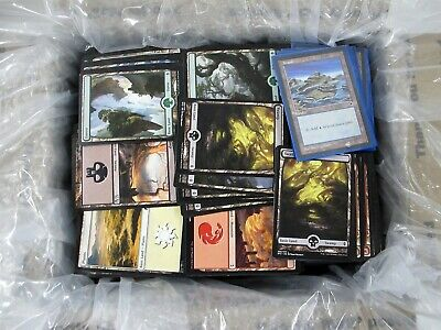 Lot of Magic The Gathering MtG Basic Land Cards Only in Medium Flat Rate Box