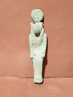 Scarce Antique Ancient Egyptian Bronze Statue God Sekhmet God War Hunting1350BC