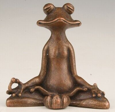 Unique Chinese Bronze Statue Frog Solid Old Mascot Collection Gift
