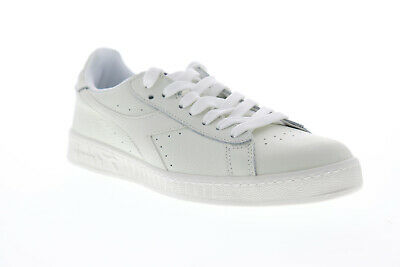 DIADORA MEN'S GAME Low Leather Trainers, White EUR 42,53
