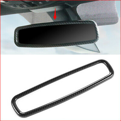 Carbon Fiber Inner Rearview Mirror Frame Trim Fit For Ford F150 F-150 2015-2018