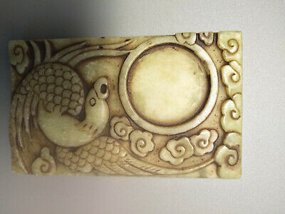 Hongshan culture ,collectibles,Chinese old jade bird Inkstone M026