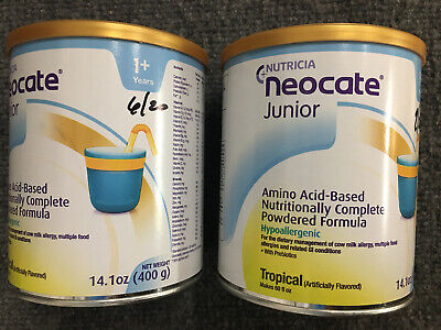 2 Cans Neocate Junior Tropical Powder jr Can PRIORITY SHIPPING