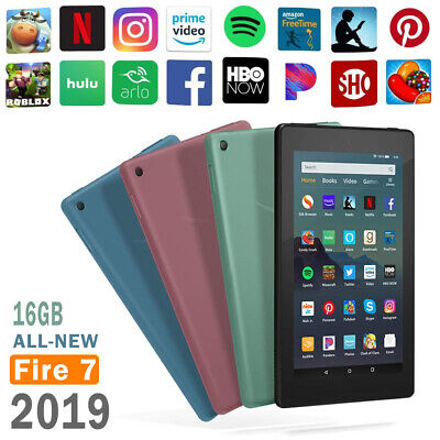 """Amazon Kindle Fire Tablet 7"""" 16 GB 9th-Generation 2019 Release Four Colors Gift"""