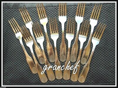 Dinner / Table Forks ~ 12 Pack ~ Shell Pattern ~ Heavyweight SS  ~ New In Box