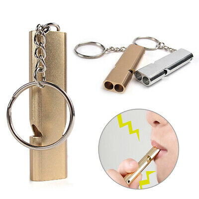 3pcs//lot Aluminum Emergency Survival Whistle Keychain outdoor camping hiking sur
