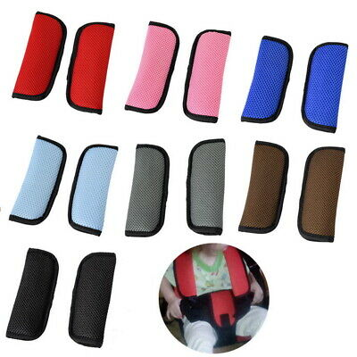 Car and Pram Safety Seat Belt Strap Shoulder Cover Harness Pad Pads Pack LH