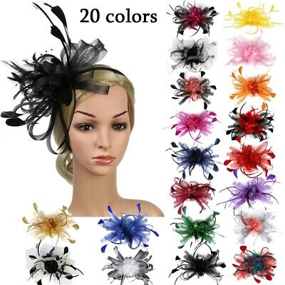 New Style Women Fancy Feather Fascinator Hat Black Birdcage Veil Wedding Hat