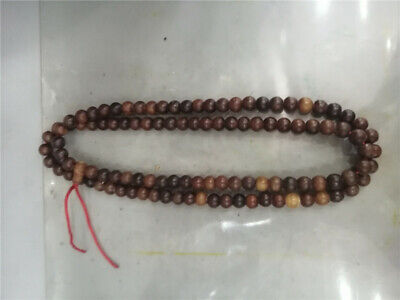 """22.05"""" Chinese Exquisite Ox horn Hand-made108 beads Buddha beads Bracelet"""