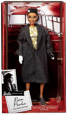New Rosa Parks Mattel Barbie Doll Inspiring Women Series & Access damage box toy