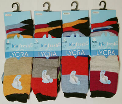 6 New Pairs Mens Gents Stripe Multi Colour Everyday Socks Size 6-11 Smart Casual