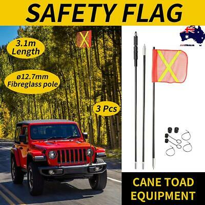 3M Fibreglass Sand Safety Flag 4WD Offroad Touring 4x4 Simpson Desert Warning