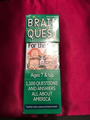BRAIN QUEST FOR THE CAR 1100 Questions And Answers All About America. Free ship
