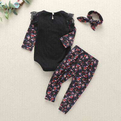 Girls Girls outfit Baby Toddlers Girls outfit Cotton Long Sleeve Romper Winter