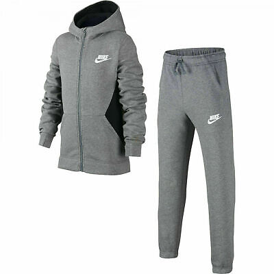 Nike Boys Hooded Graphic CJ4342-091 Grey Full Tracksuit 12-13_13-15 Yrs